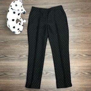Talbots Black Metallic Gold Pants Size 6